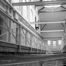 Railings on a prison landing